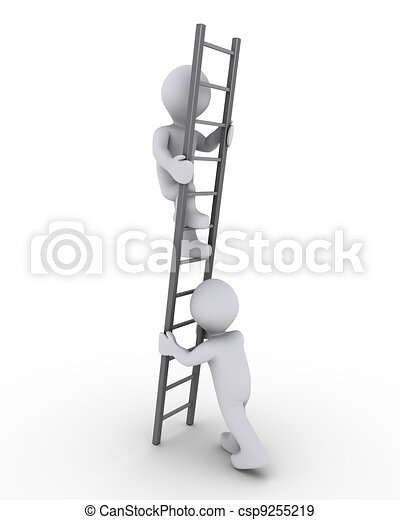 Ayudando a subir la escalera - csp9255219