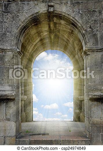 portão, céu - csp24974849