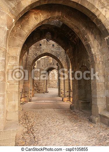 portões, através, tempo - csp0105855