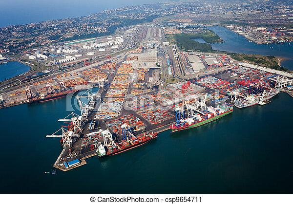 port, afrique, durban, sud - csp9654711