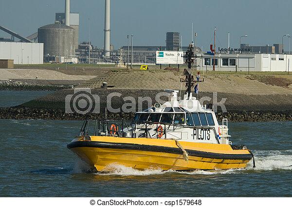 port, bateau, pilote - csp1579648