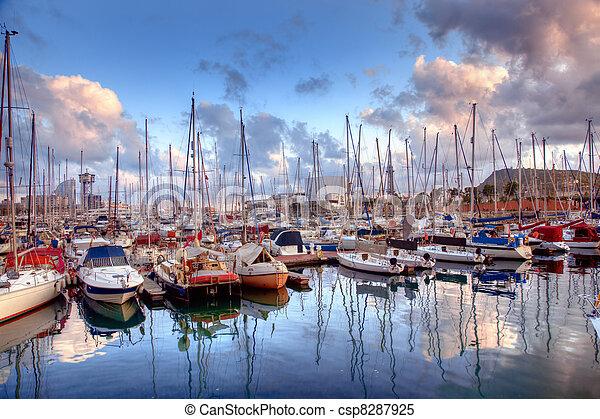 port, bateaux, barcelone - csp8287925