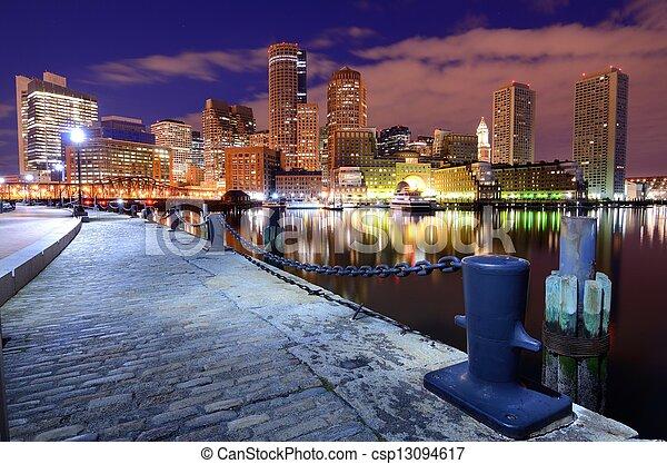 port, boston - csp13094617