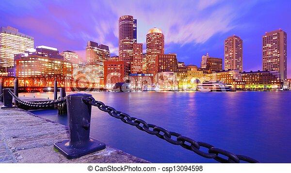 port, boston - csp13094598