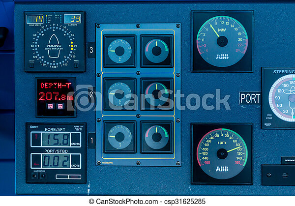 Port Controls Controls On Bridge Of A Luxury Cruise Ship Pictures - Cruise ship controls