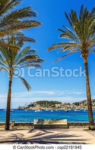 Port de Soller in Mallorca - csp22181945