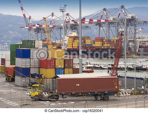 port, expédition, récipients - csp16320041