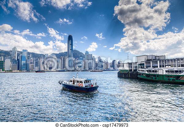 port, hong kong, victoria - csp17479973