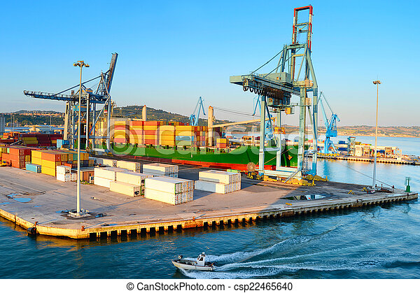 Port in Ancona, Italy - csp22465640
