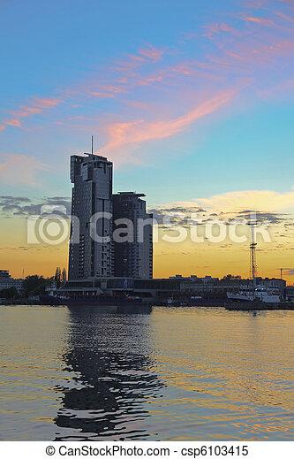 Port in Gdynia, Poland. - csp6103415