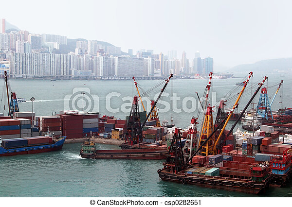 Port in Hong Kong - csp0282651