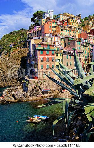 port, italien, côtier, village - csp26114165