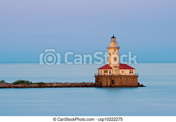 port, light., chicago - csp10222275