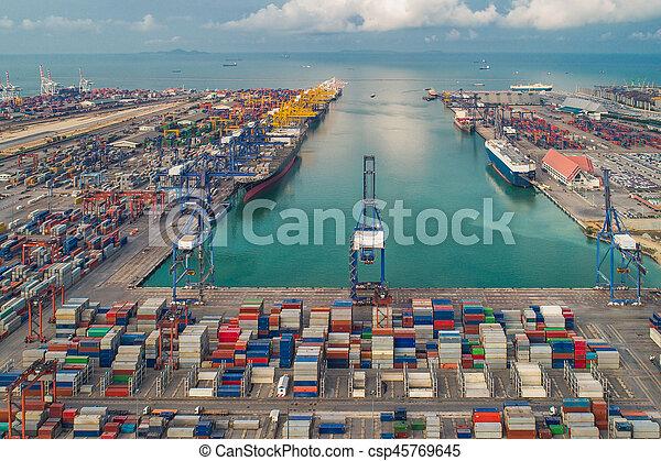 port, logistique - csp45769645