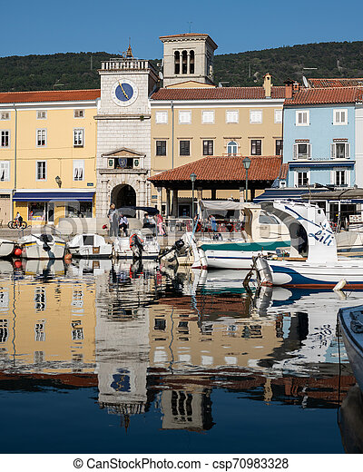 port of Cres on a sunny day in spring - csp70983328