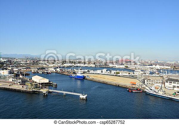 Port of Los Angeles in California - csp65287752