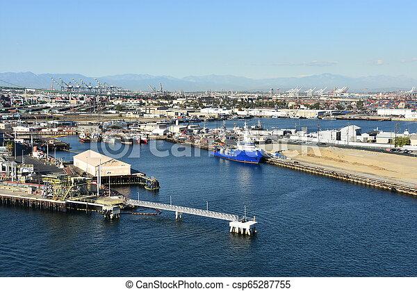 Port of Los Angeles in California - csp65287755