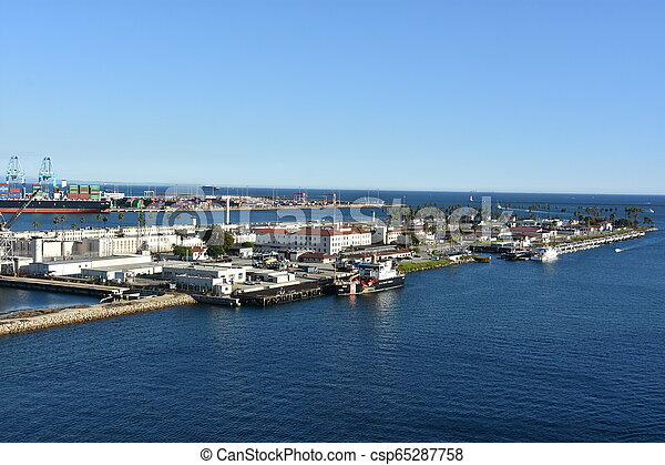 Port of Los Angeles in California - csp65287758