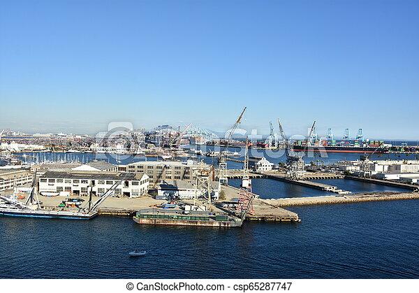 Port of Los Angeles in California - csp65287747