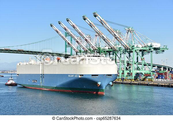 Port of Los Angeles in California - csp65287634