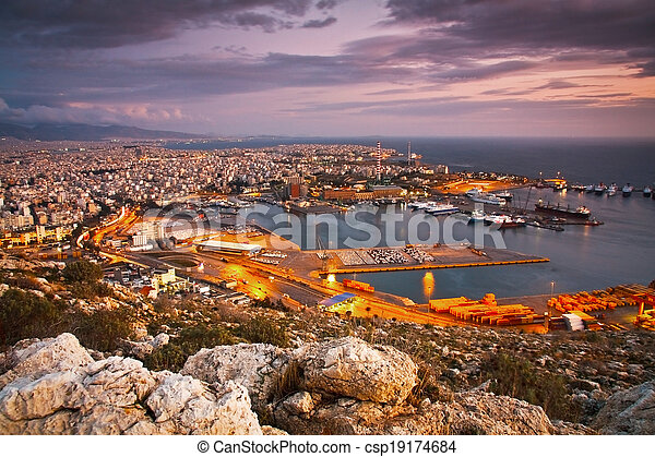 Port of Piraeus, Greece - csp19174684
