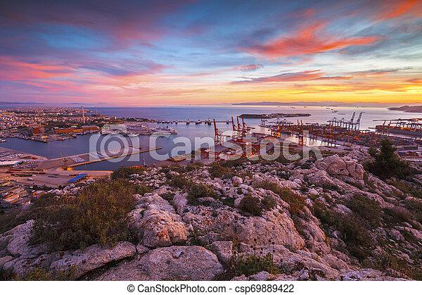 Port of Piraeus, Greece - csp69889422