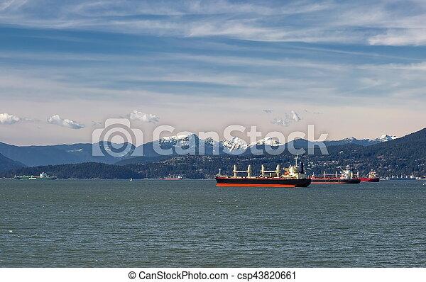 port, pétroliers, vancouver, océan - csp43820661