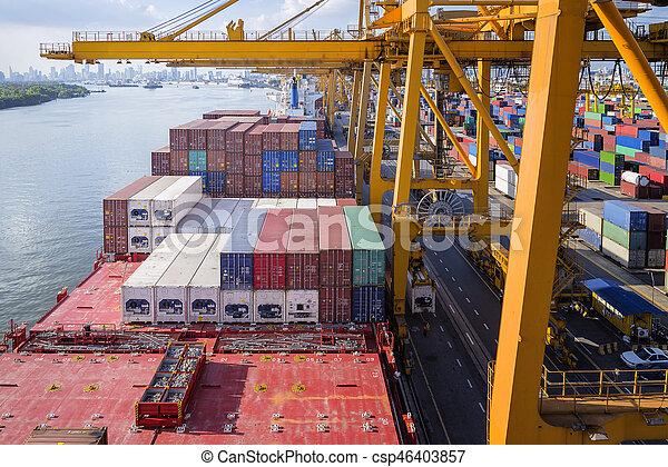 port, récipient bateau - csp46403857