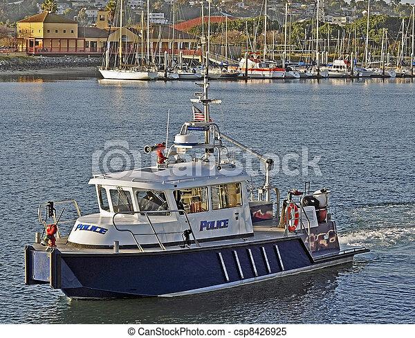 port, vaisseau, police, firefighting - csp8426925