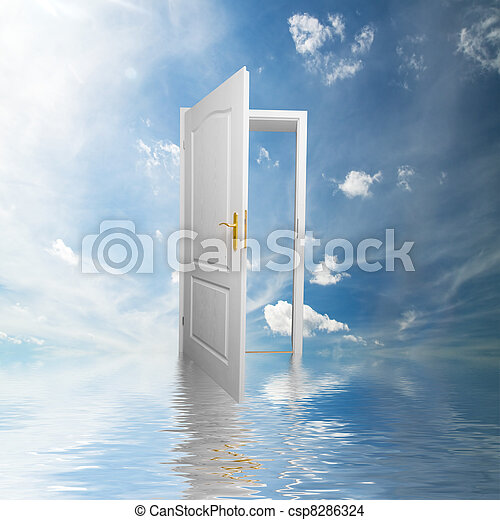 porta, esperança, sucesso, maneira, conceitos, novo, world. - csp8286324