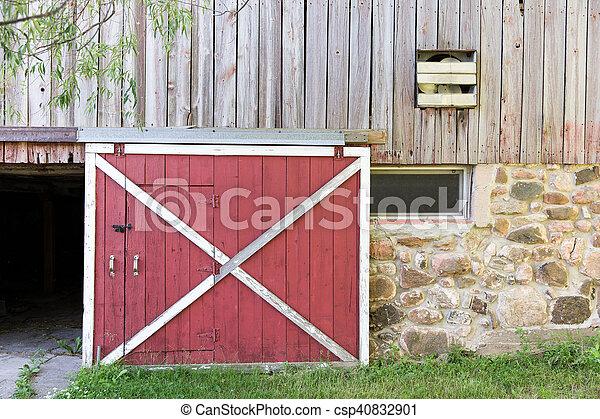 porta, granaio, rosso - csp40832901