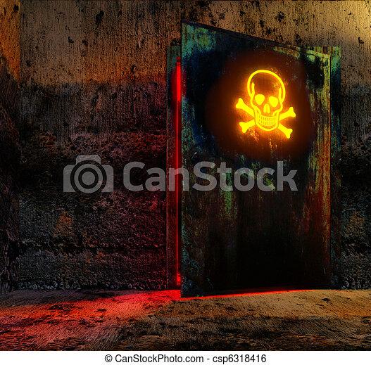 porta, pericolo - csp6318416