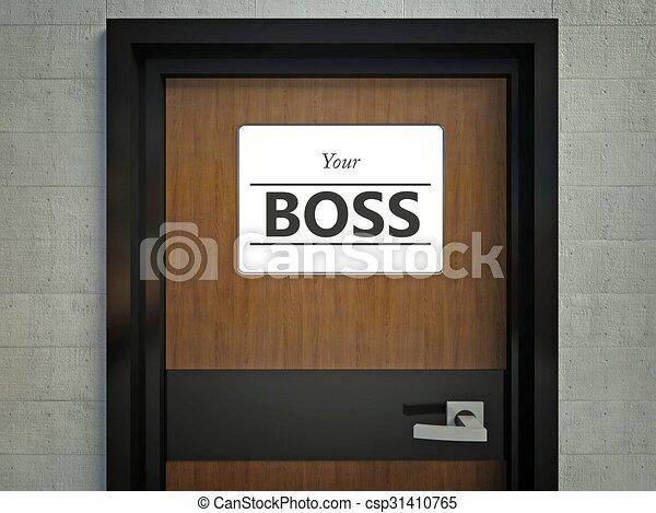 Capo Ufficio Disegno : Porta ufficio capo appendendo segno tuo.