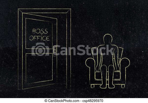 Capo Ufficio Disegno : Porta valutazione ufficio seduta prossimo impiegato capo uomo