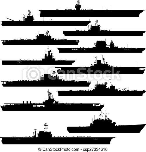 Portaaviones Ilustraciones vectoriales de clipart. 1.675 ...
