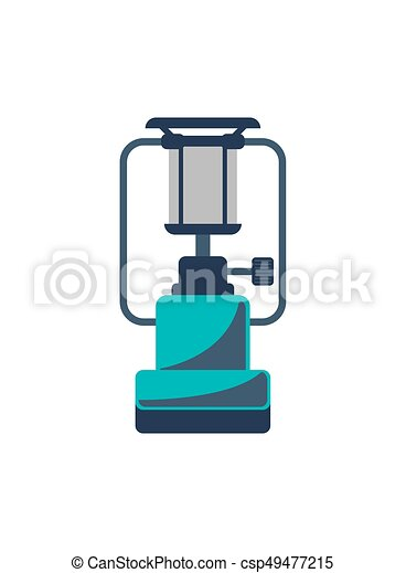 Portable gas stove isolated vector icon