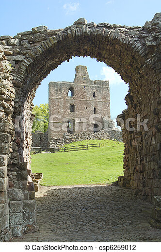 portail, château, entrée, norham - csp6259012
