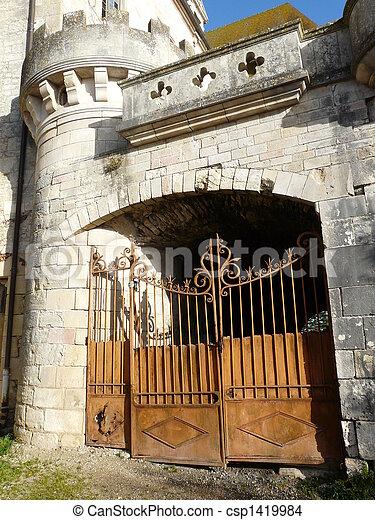 portail, entrée, moyen-âge, rouillé - csp1419984
