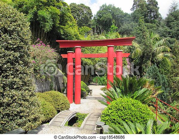 portail, torii, japonaise
