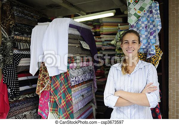portait of a retail store owner  - csp3673597