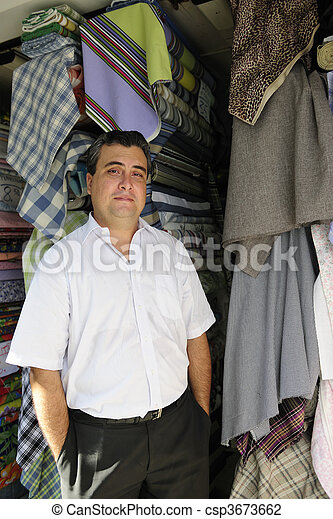 portait of a retail store owner  - csp3673662