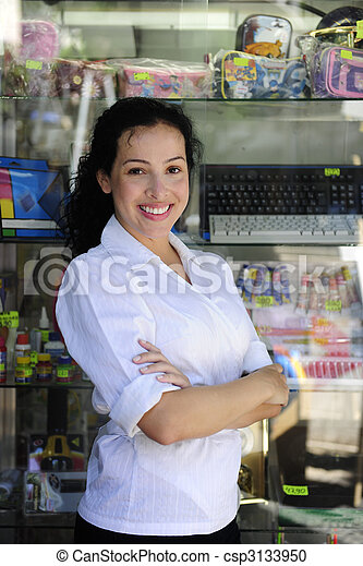 portait of a retail store owner  - csp3133950