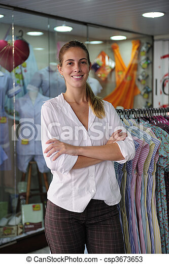 portait of a retail store owner  - csp3673653