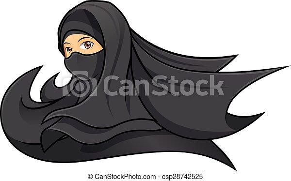 Portant noir femme voile musulman porter femme for Portant noir