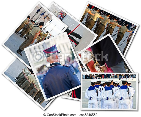 Portcards of Armed forces - csp8346583