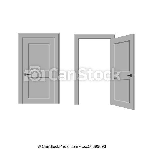 Porte ouverte ferm vecteurs eps rechercher des clip for Porte ouverte dessin