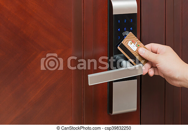 Porte Ouverture Serrure Sécurité électronique Carte Images De - Sécurité porte