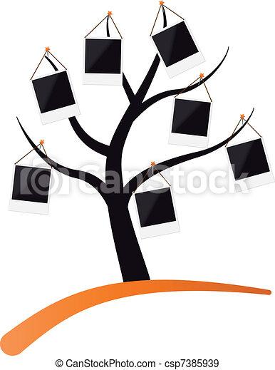 porte-photo, arbre - csp7385939