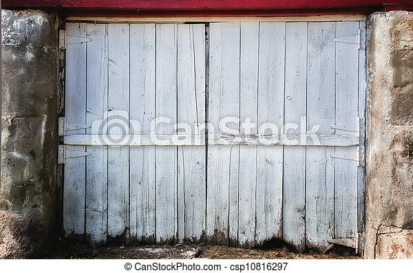 porte, porté, toile de fond, grange - csp10816297