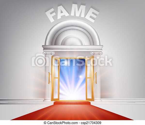 porte, renommée, moquette rouge - csp21704309